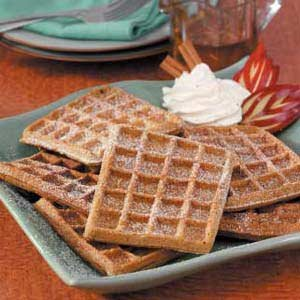re-gingerbread waffles