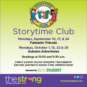 Strong Museum Story Time September-October