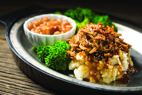 shredded apple pork