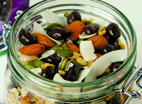 Plum Mason Jar Trailmix