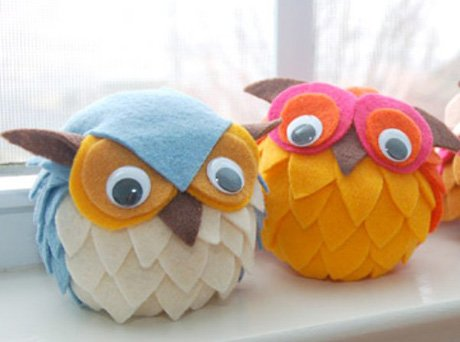 felt owl craft