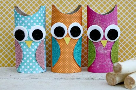 paper owl roll craft
